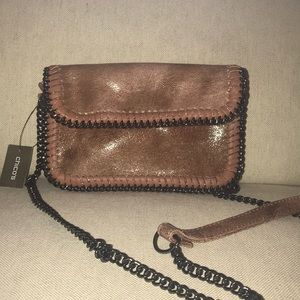 Chico's Crossbody - Blush/Gunmetal Chain Strap